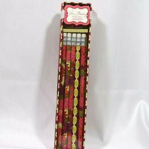 Vera Bradley HELLO DAHLIA Pencil Box 10 Pencils